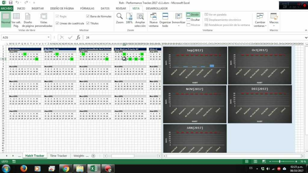 Tab1 Habit Tracker Excel VBA YouTube