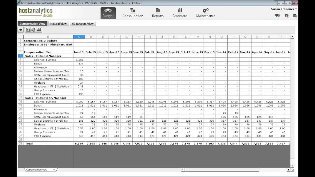 Download Excel Headcount Forecast Gantt Chart Excel Template