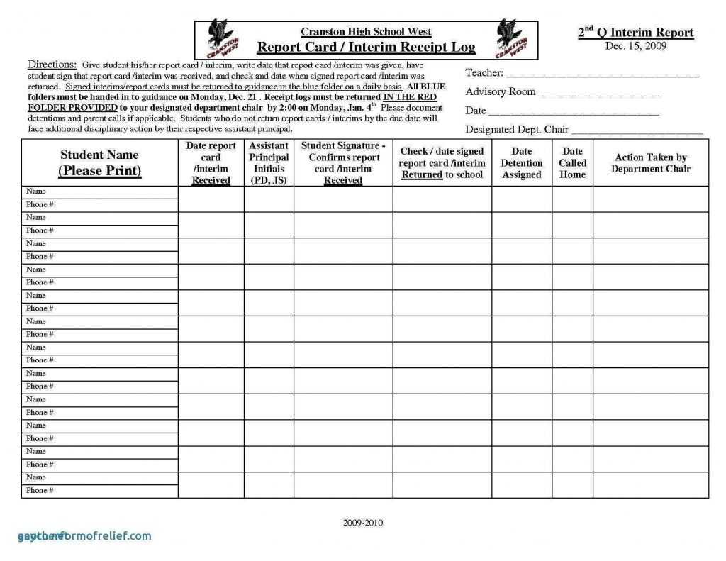 Homeschool Report Card Template Excel Cards Design Templates