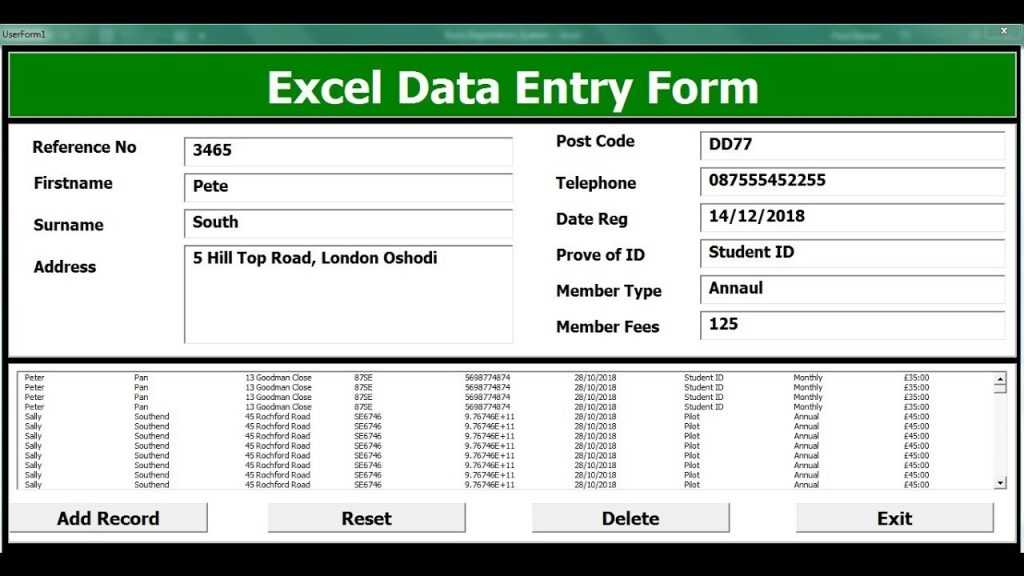How To Create Excel Data Entry Form With A UserForm Part