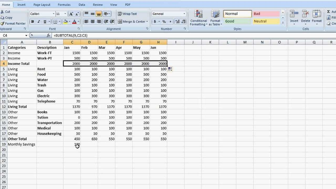 How To Set Up A Totaling Spreadsheet In Excel Tips For