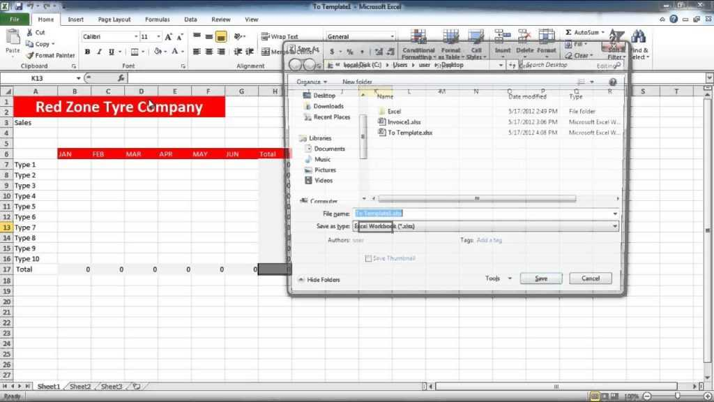 How To Create Templates In Excel YouTube