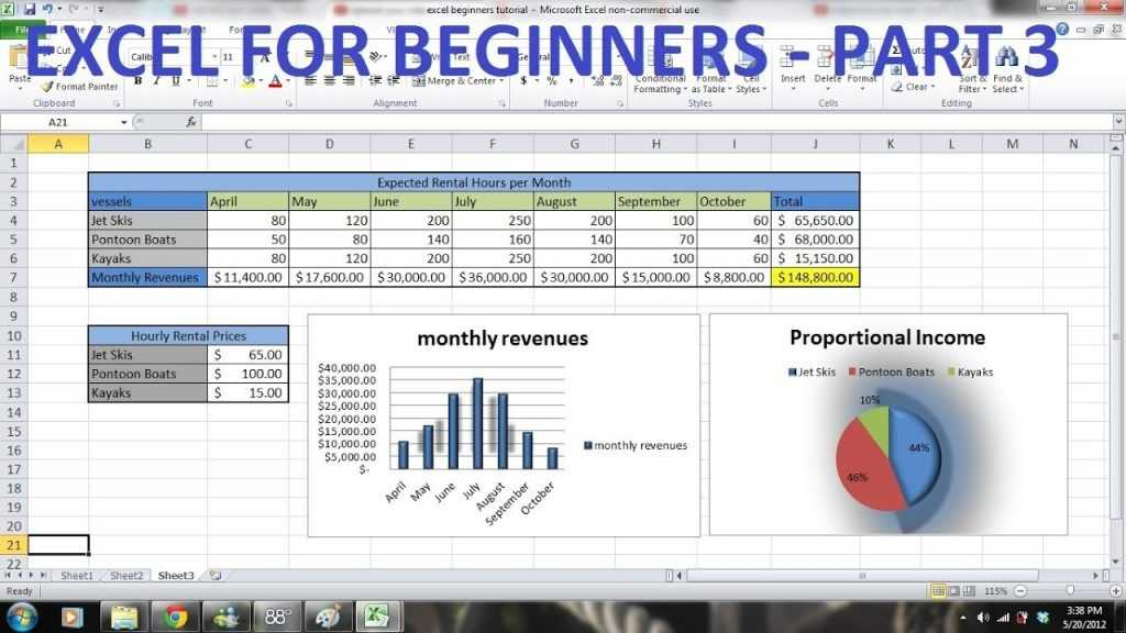 How To Use Excel 2010 Tutorial FOR BEGINNERS PART 3 How