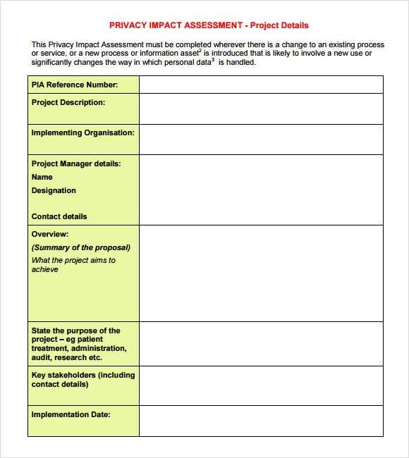FREE 9 Sample Impact Assessment Templates In PDF Excel