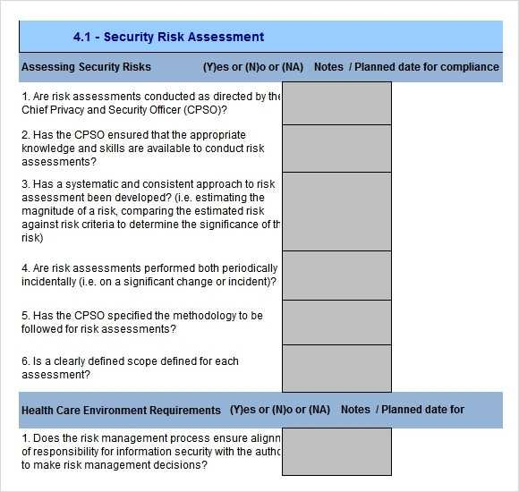 FREE 12 Sample Security Risk Assessment Templates In PDF