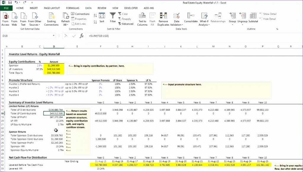 Download Npv Irr Excel Template For Periodic Cash Flows