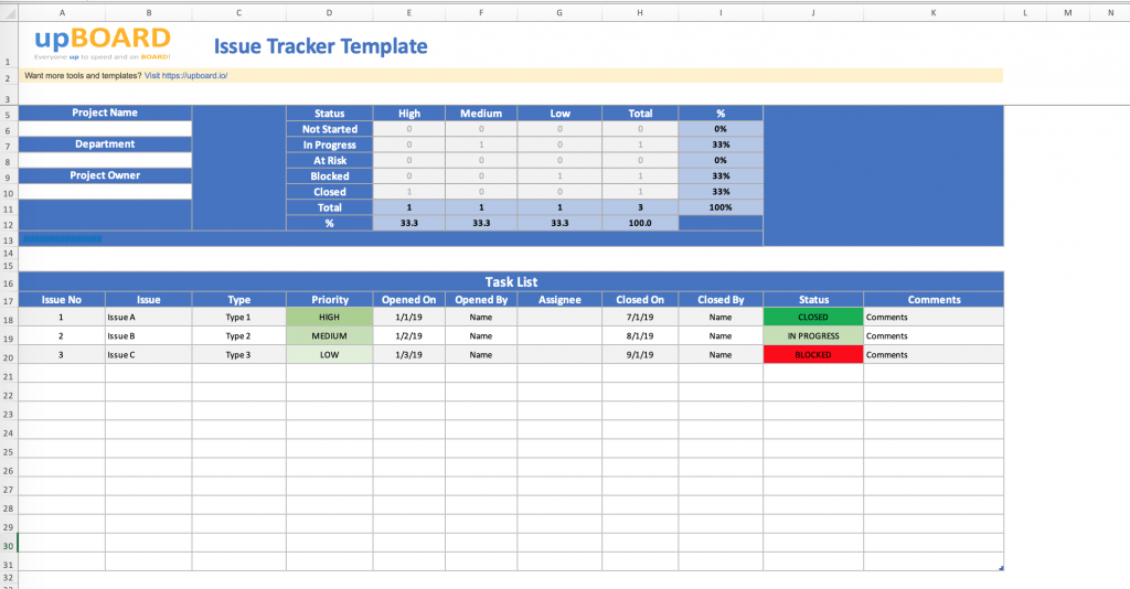 Issue Tracker Digital Online Tools Templates
