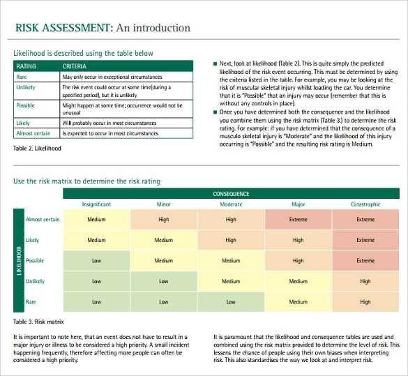FREE 11 Sample IT Risk Assessment Templates In PDF MS