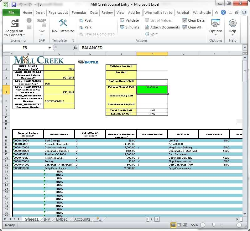 Journal Entry Template Excel Shatterlion info