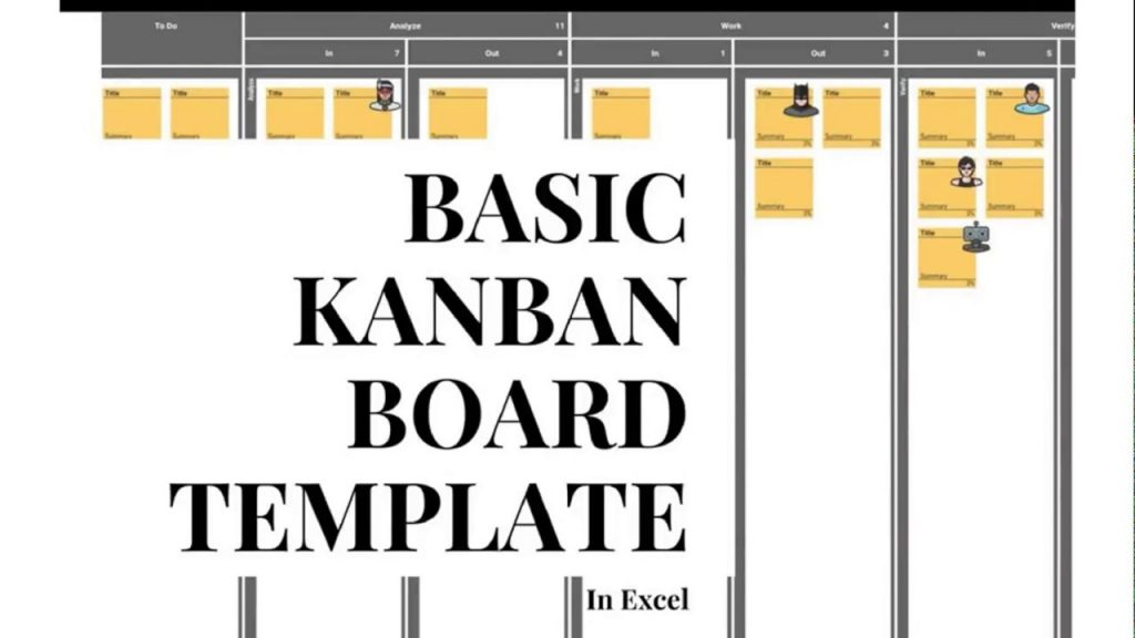 Basic Kanban Board Template For Excel With WIP Limits Free