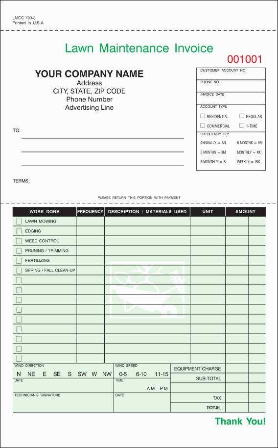 FREE 9 Lawn Care Invoice Samples Templates In PDF