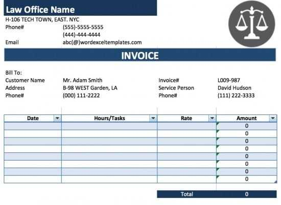 Lawyer Receipt Template Printable Receipt Template