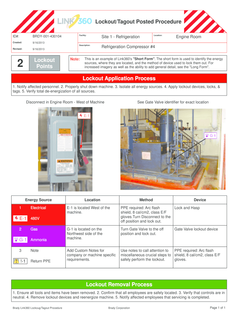 Lockout Tagout Procedure Template Excel Fill Online