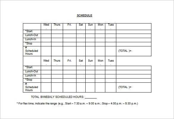 Employee Schedule Template 14 Free Word Excel PDF