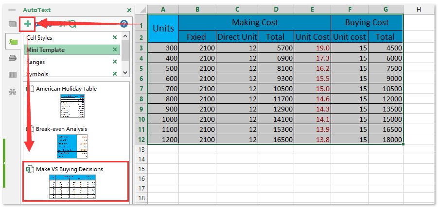 How To Calculate Make or Buy Decisions In Excel