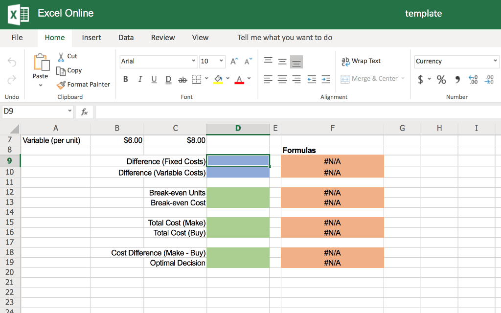 Solved Excel Online Structured Activity Break Even Analy
