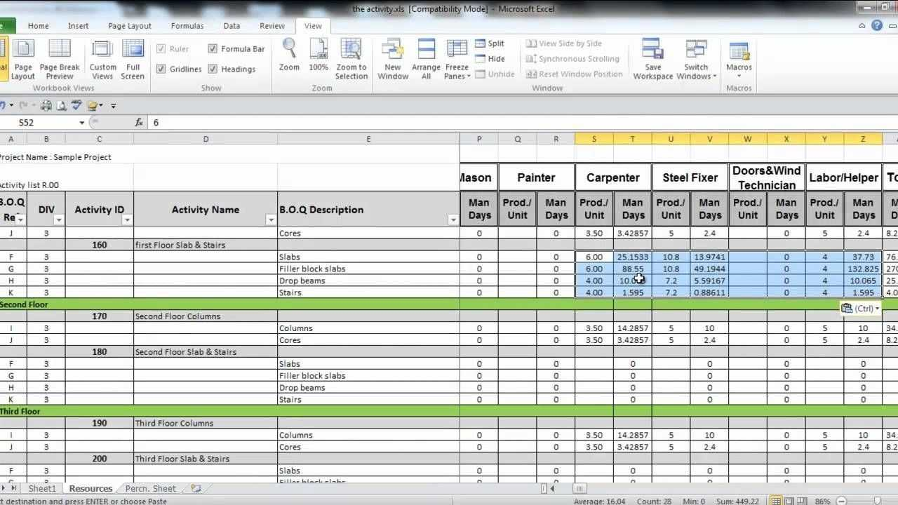 Manpower Planning Excel Template Virtren Com Excel