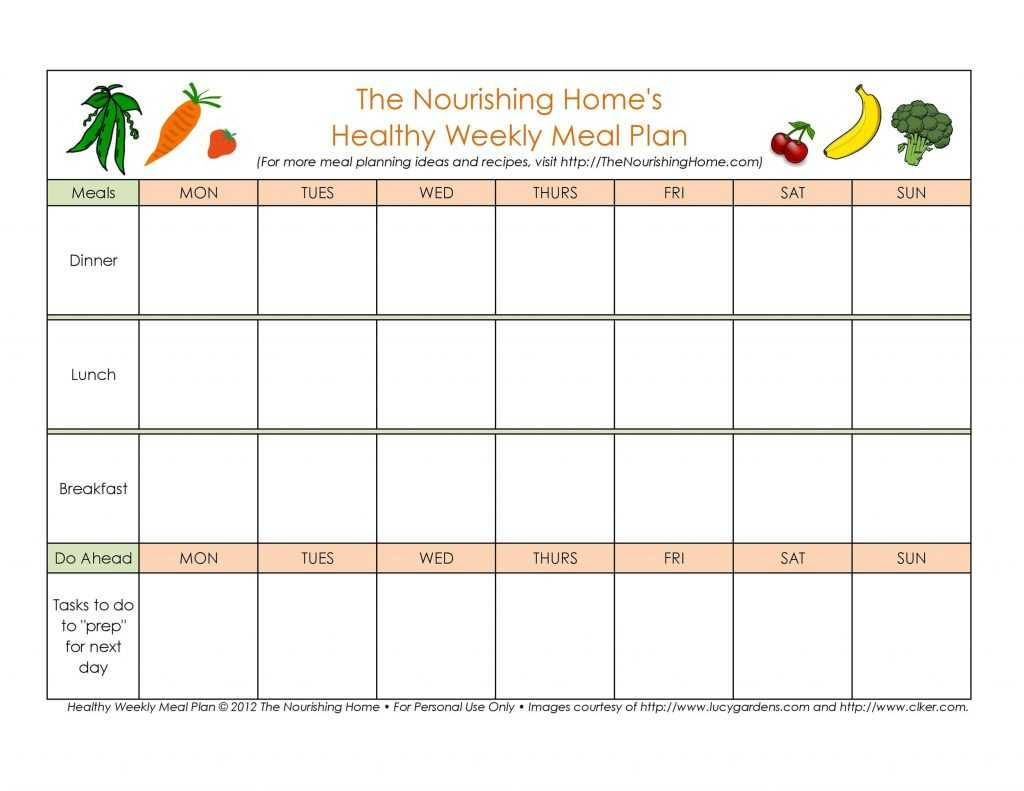 40 Weekly Meal Planning Templates TemplateLab