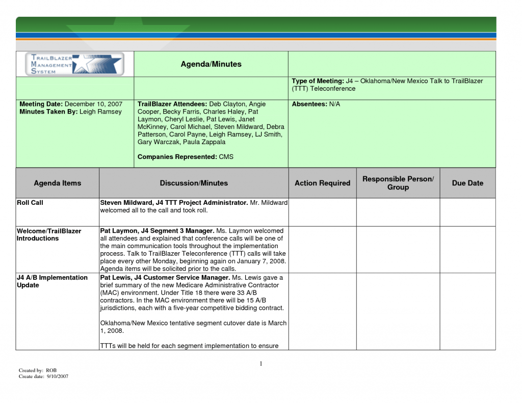Meeting Minutes Template For Mac PDF Meeting Notes