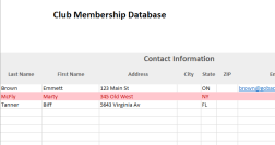 Club Membership Database And Dues Tracker Excel Template