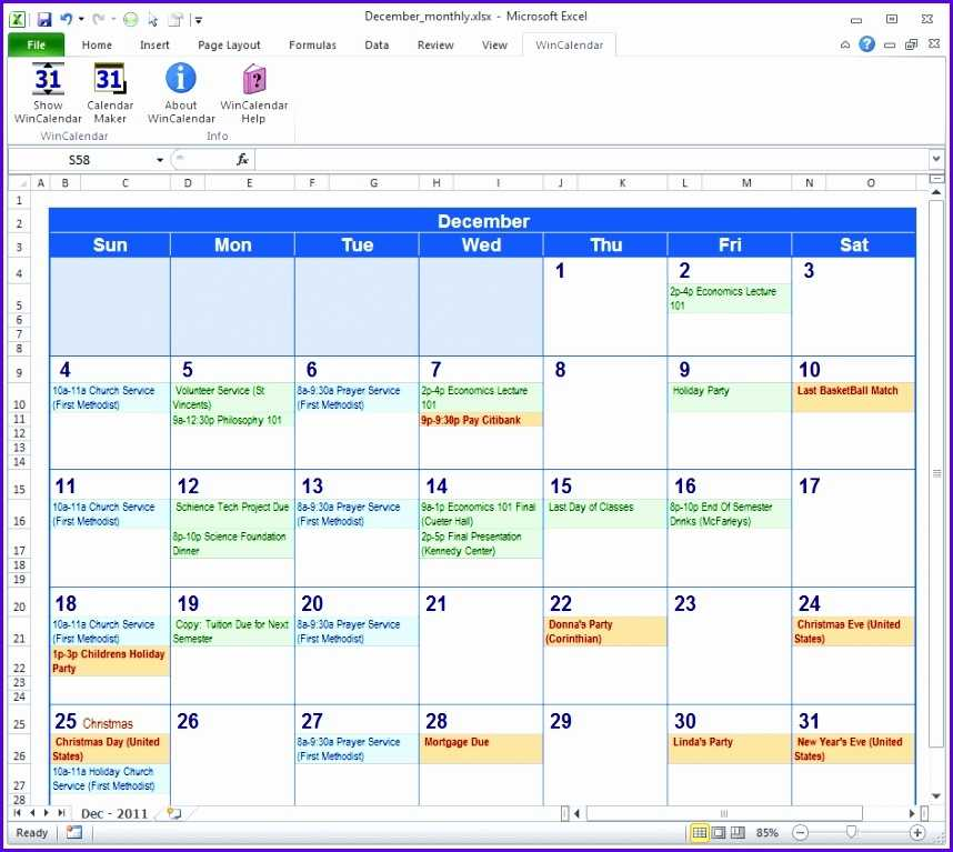 9 Download Calendar Template Excel Excel Templates