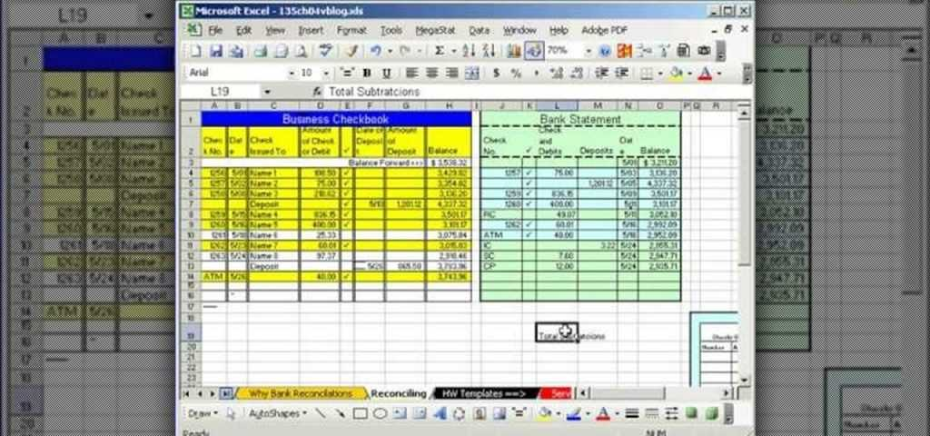 How To Do Bank Reconciliation In Microsoft Excel