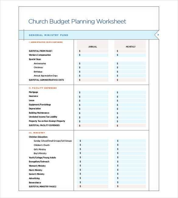 15 Church Budget Templates Docs Excel PDF Free
