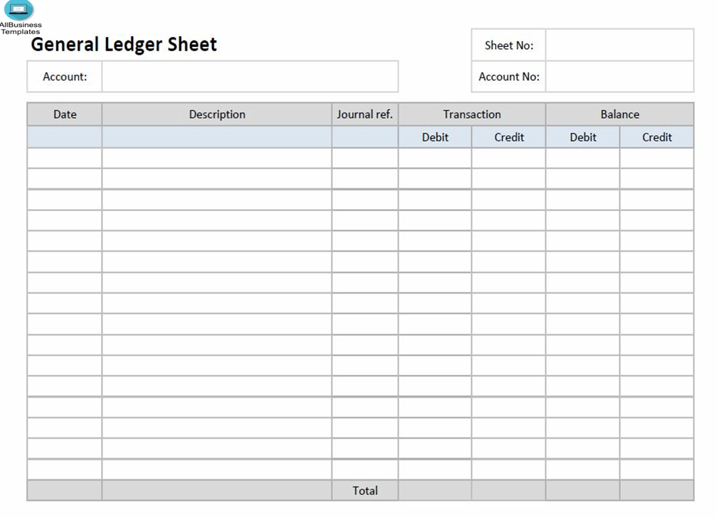 Ledger Paper Template Excel Templates At