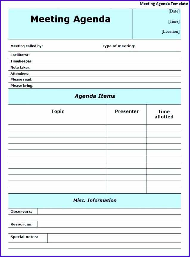 14 Minutes Of Meeting Template Excel Excel Templates