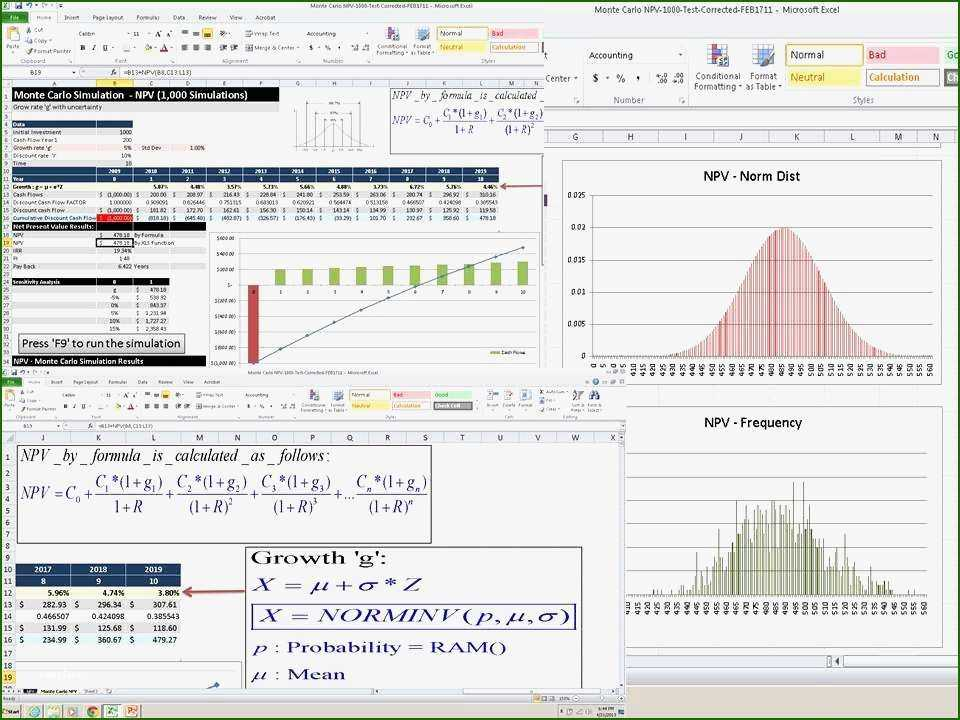 18 Excellent Monte Carlo Simulation Excel Template 2020