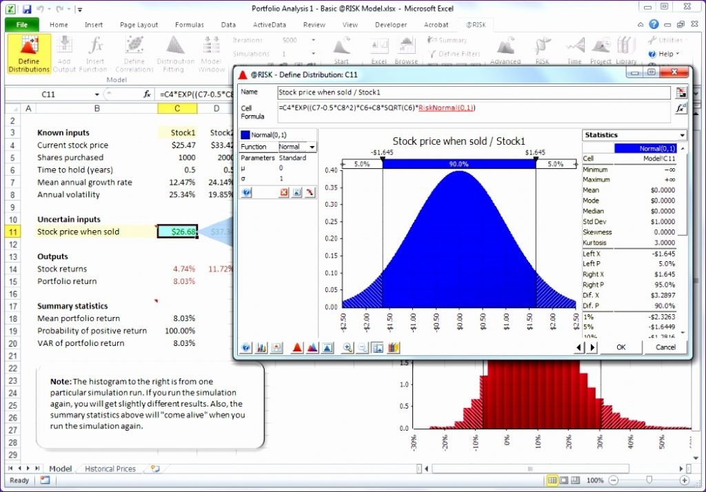 9 Monte Carlo Simulation Excel Template Excel Templates