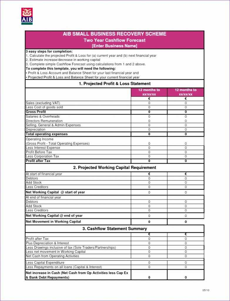 5 Monthly Financial Statement Template Excel Excel