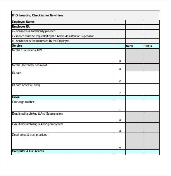 FREE 17 Onboarding Checklist Templates In MS Word Excel