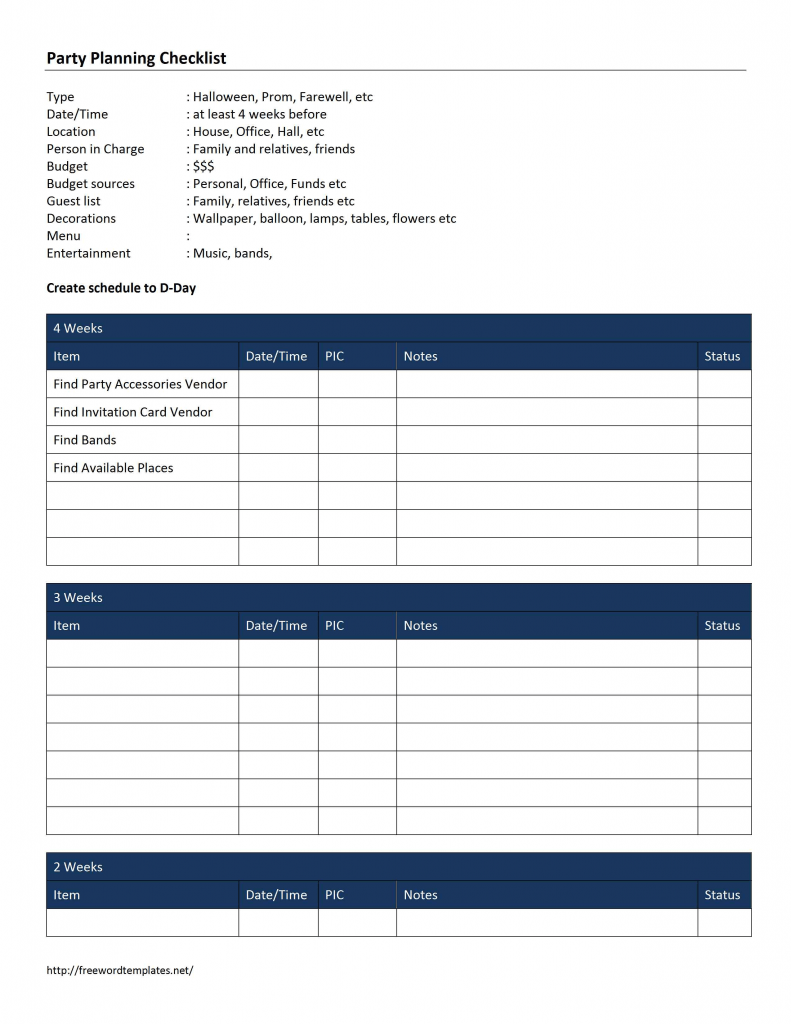 Checklist Word Templates Free Word Templates MS Word
