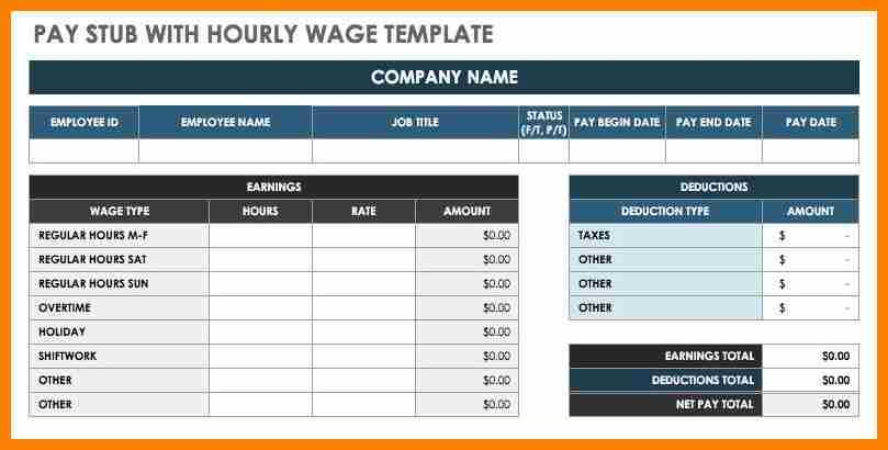 6 Payroll Check Template Free Pay Stub Format
