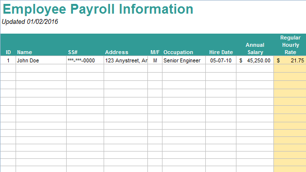 10 Useful Free Payroll Templates UTemplates