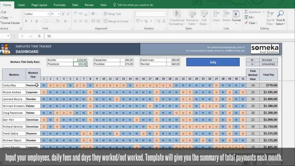 Payroll Template Excel Timesheet Template Free