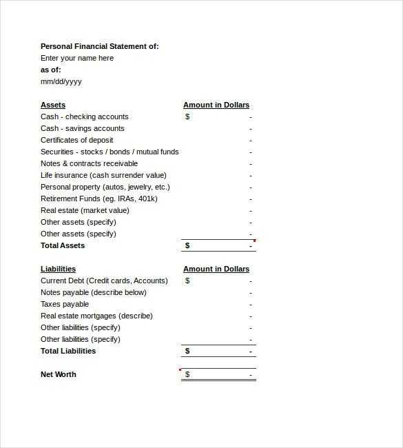 Income Statement Template 23 Free Word Excel PDF