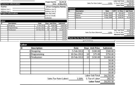 Download Project Cost Estimate Proposal Template In Excel