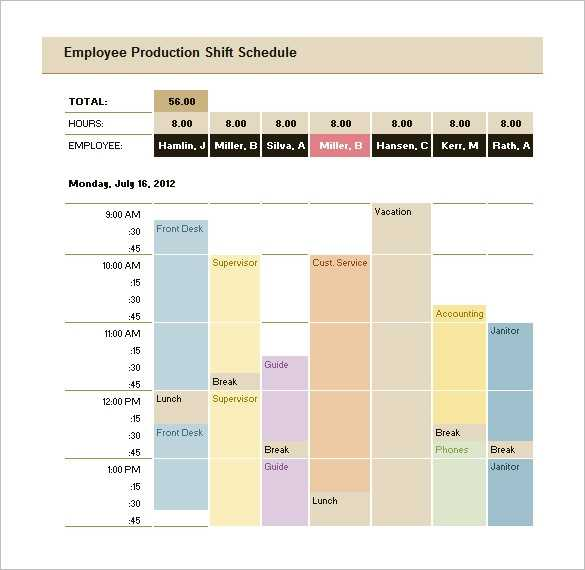 Production Schedule Template Excel Free Printable