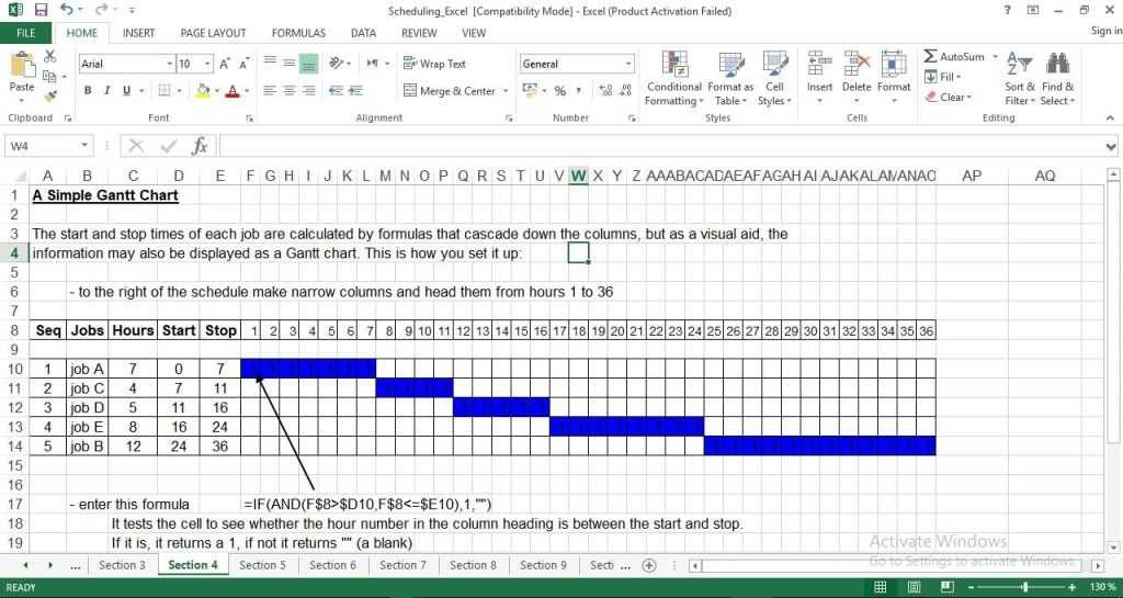 Production Scheduling Excel Template