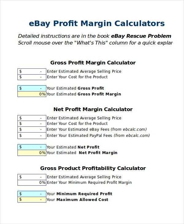 Excel Calculator Template 6 Free Excel Documents