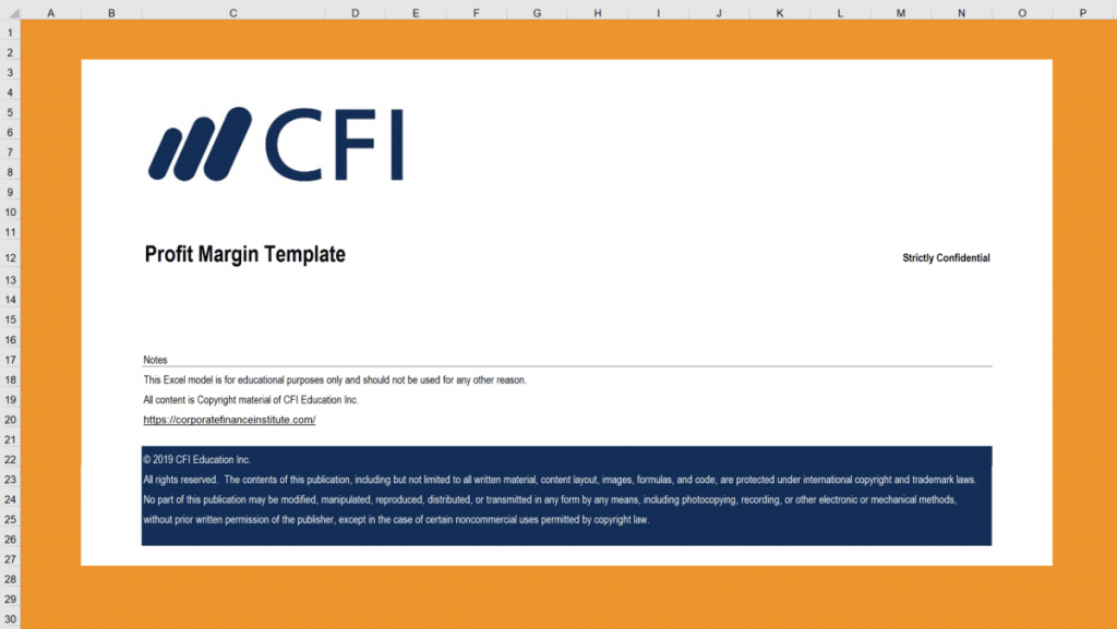 Profit Margin Excel Template Download Template On CFI