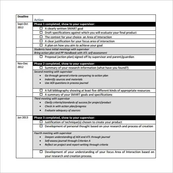 Project Action Plan Template 17 Free Word Excel PDF