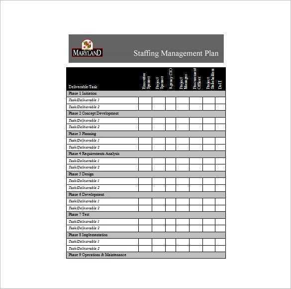 13 Staffing Plan Templates Free Sample Example Format
