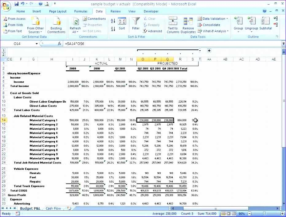 10 Projected Income Statement Template Excel Excel
