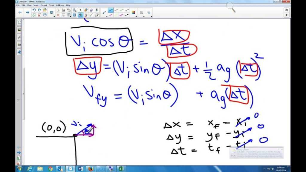 Projectile Motion In Excel YouTube