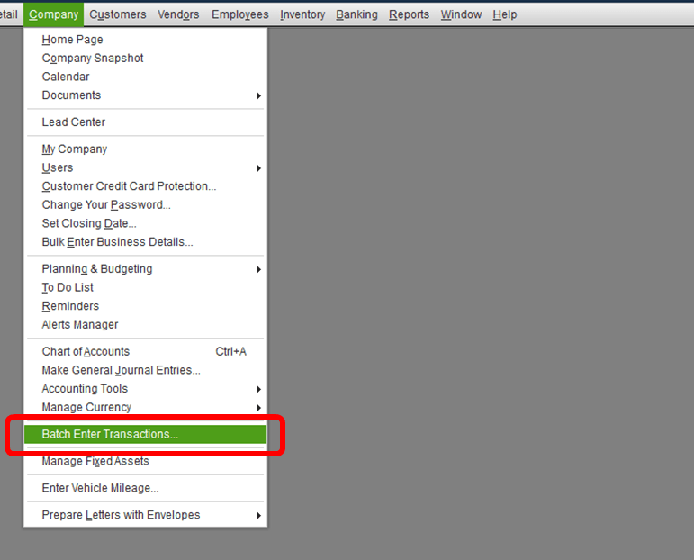 Importing A List Of Checks From Excel Into Quickbooks