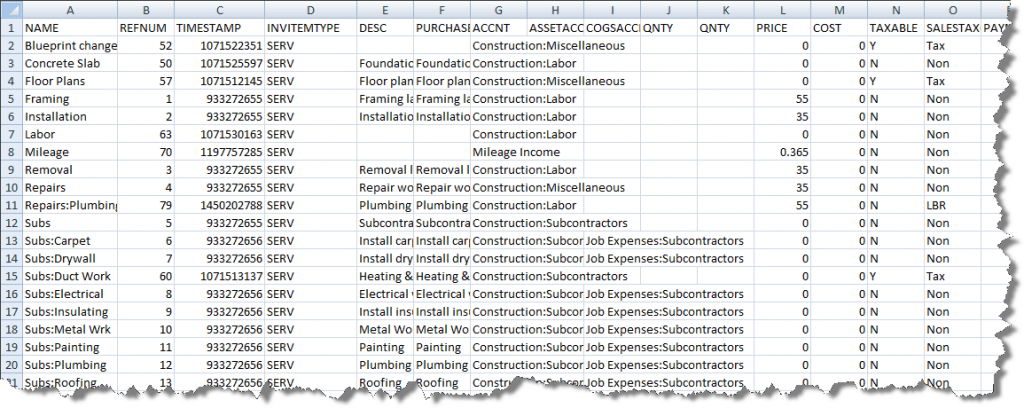 Importing Lists From Excel Experts In QuickBooks