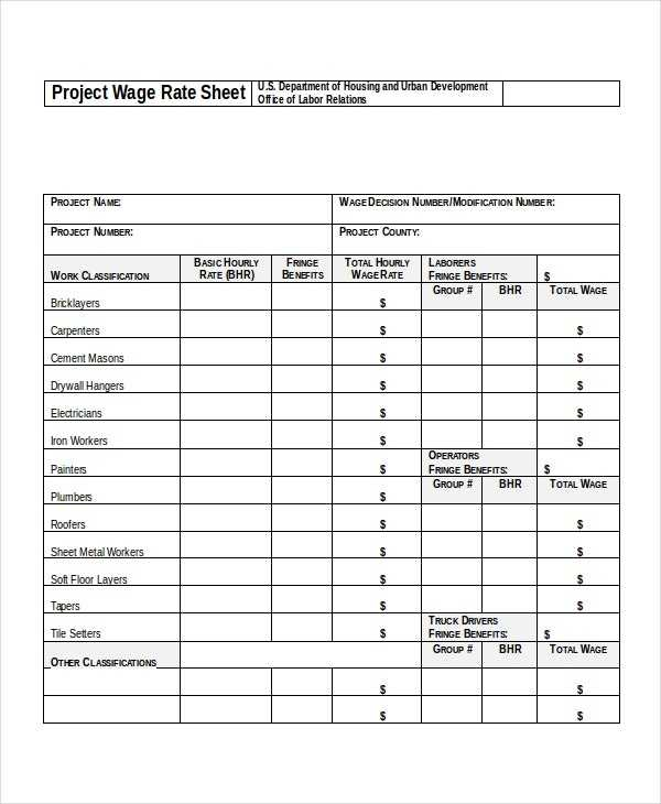 18 Rate Sheet Templates Free Word Excel PDF Document